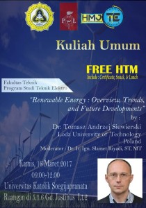 General Lecture Tema New and Re-newable Energy
