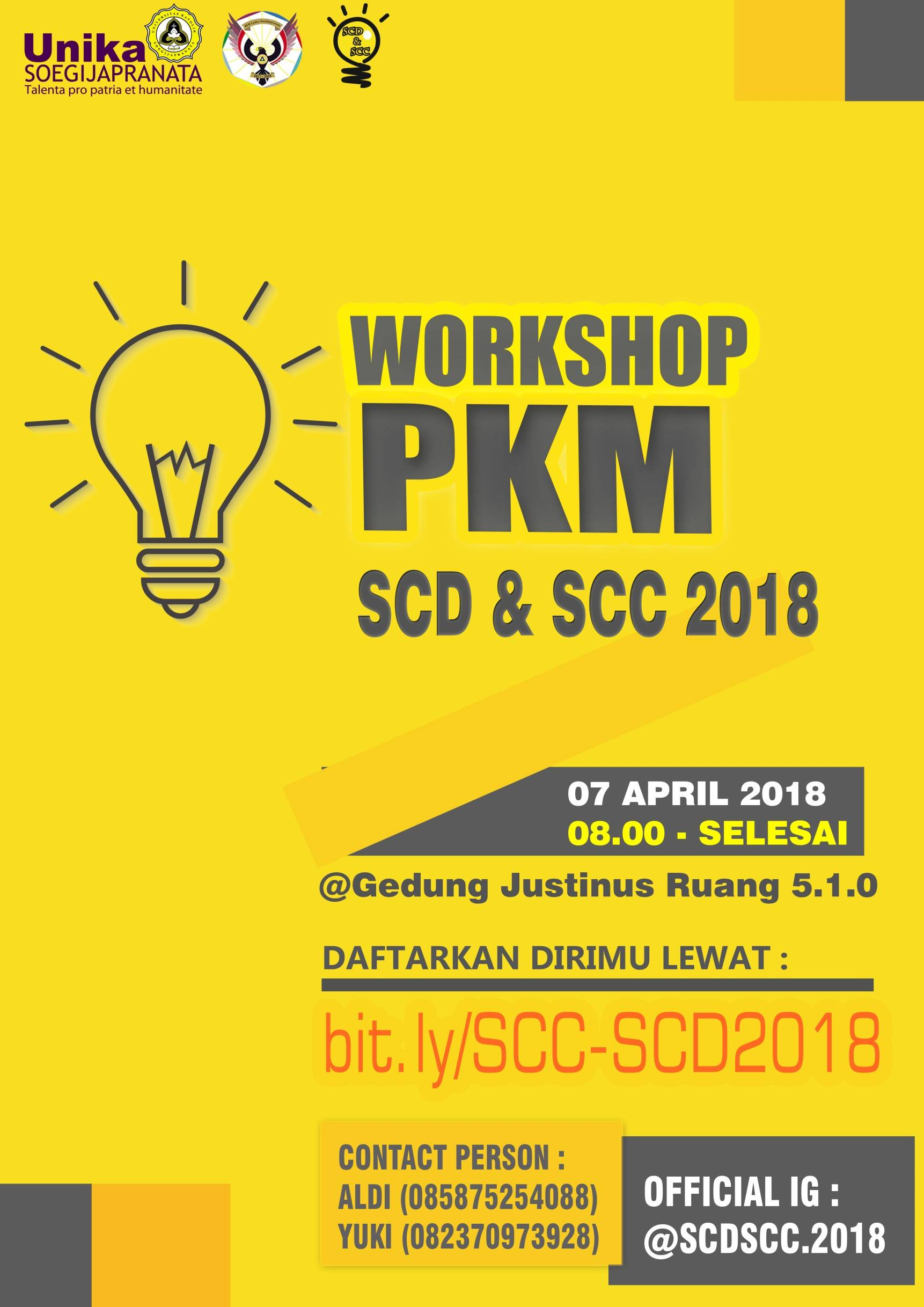 WORKSHOP PKM SCC 2018